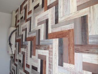 カラー木目壁紙