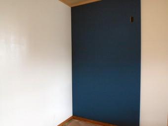 リノベ 壁塗装 青