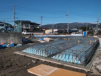 基礎工事中の新築店舗